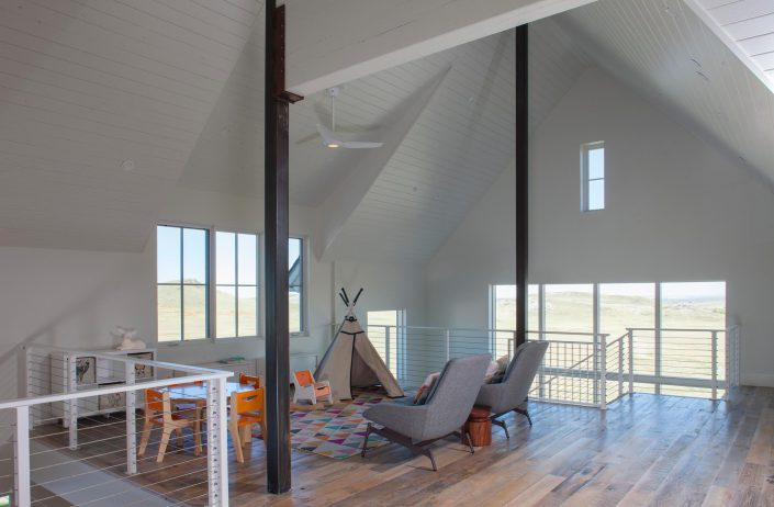 Koda Modern Farmhouse playroom loft
