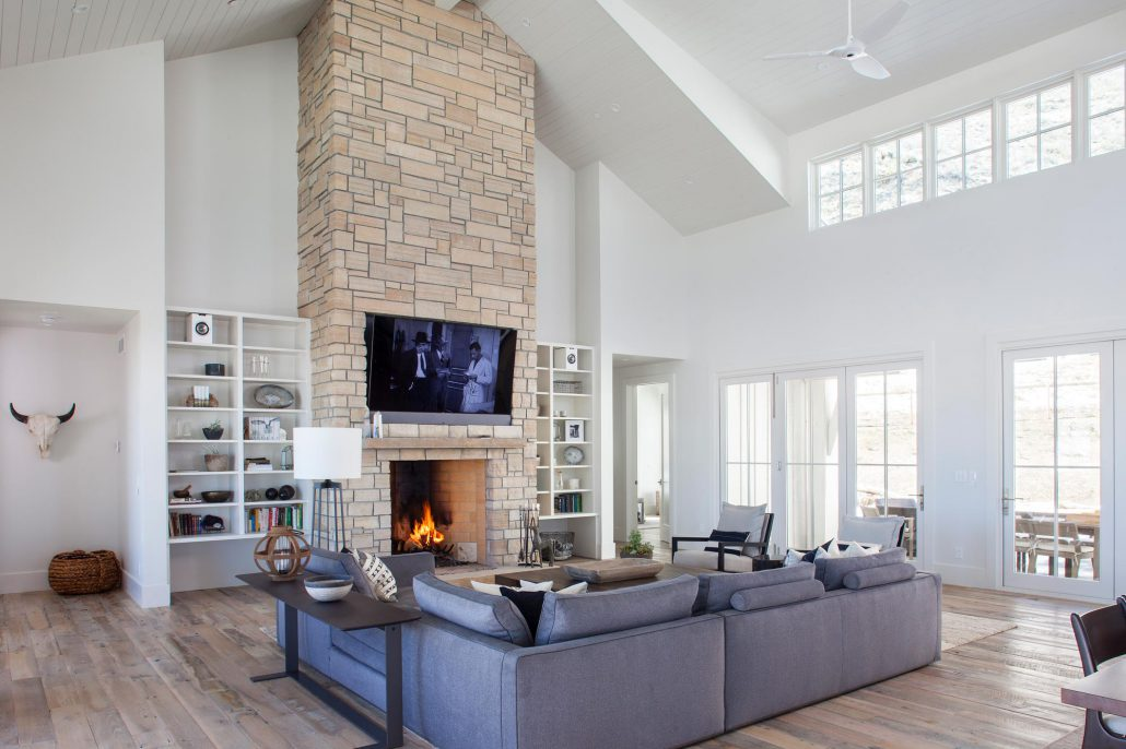 Koda Modern Farmhouse fireplace