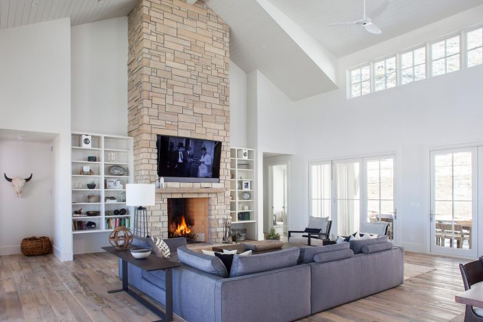 Koda Modern Farmhouse fireplace