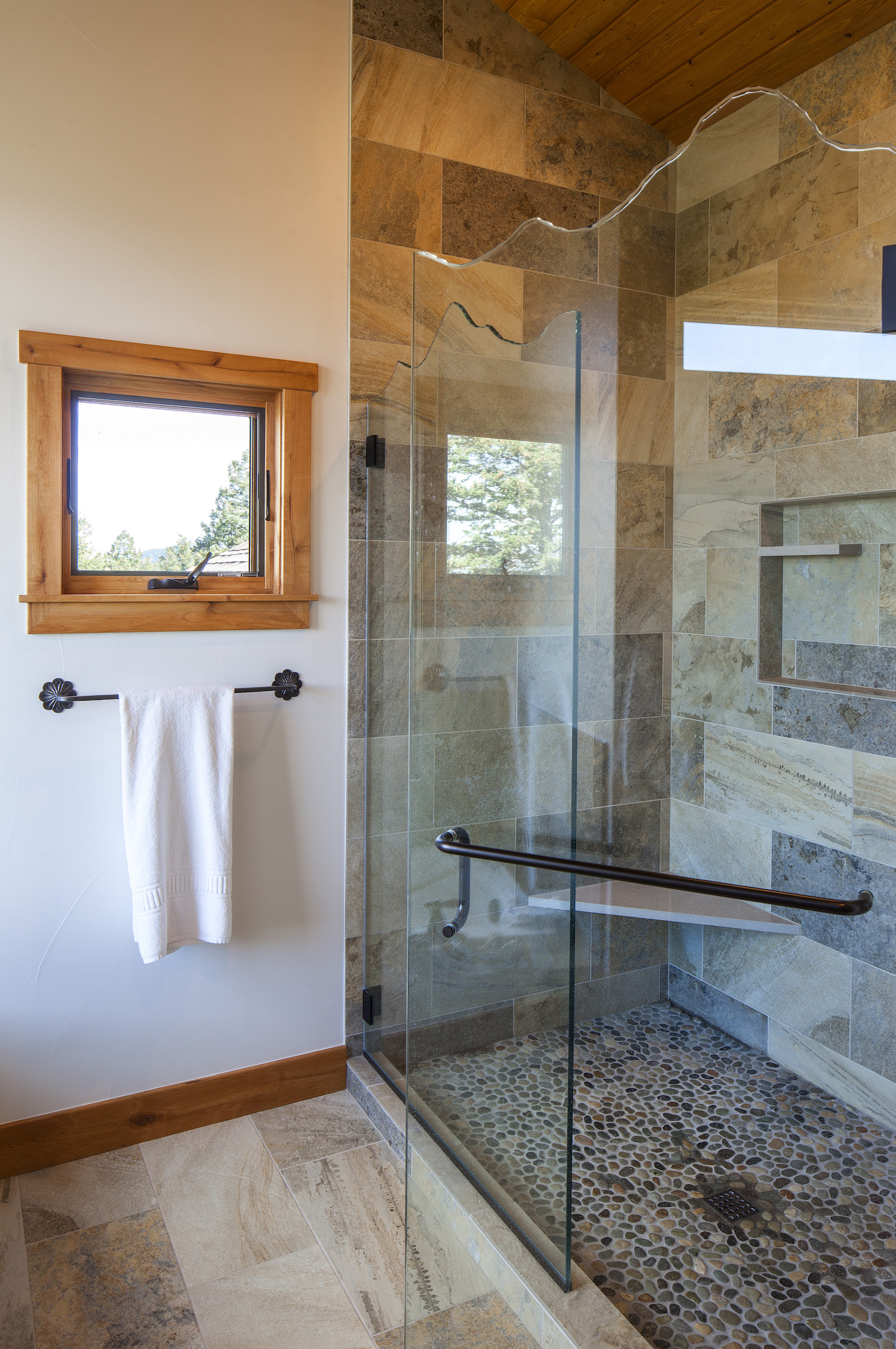 Cornerstone Homes Coal Creek master shower