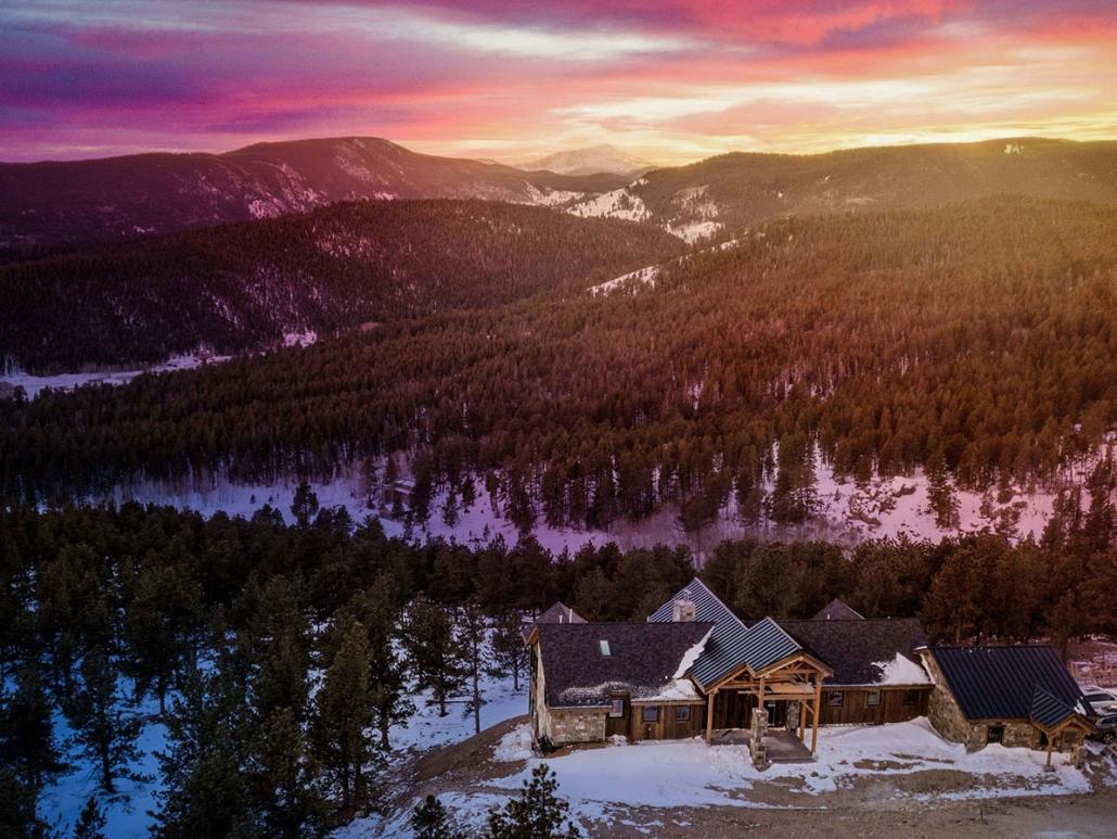 Caribou Ridge Home at Sunset